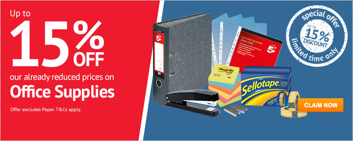 Up to 15% Off Office Supplies